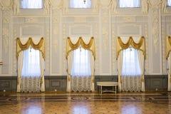 下诺夫哥罗德,俄罗斯- 03 11 2015年 博物馆庄园的Rukavishnikov舞厅 免版税图库摄影