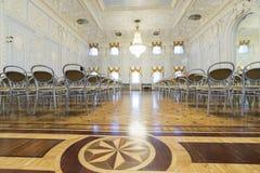 下诺夫哥罗德,俄罗斯- 03 11 2015年 博物馆庄园的Rukavishnikov舞厅 库存照片
