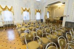 下诺夫哥罗德,俄罗斯- 03 11 2015年 博物馆庄园的Rukavishnikov舞厅 免版税库存图片