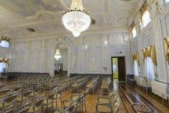 下诺夫哥罗德,俄罗斯- 03 11 2015年 博物馆庄园的Rukavishnikov舞厅 图库摄影