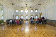 下诺夫哥罗德,俄罗斯- 03 11 2015年 博物馆庄园的Rukavishnikov舞厅 库存图片