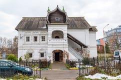 下诺夫哥罗德,俄罗斯-02 11 2015年 在XVII世纪建造的客商Olisova议院,地标 免版税图库摄影