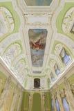 下诺夫哥罗德,俄罗斯- 03 11 2015年 天花板和墙壁的装饰在博物馆庄园Rukavishnikov 图库摄影