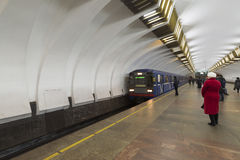 下诺夫哥罗德,俄罗斯- 02 11 2015年 火车 库存照片