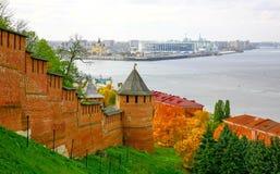 下诺夫哥罗德Autum都市风景  免版税库存图片
