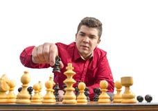 下象棋者 免版税库存照片