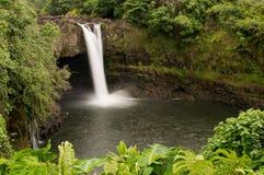 下跌夏威夷hilo彩虹河wailuku 免版税图库摄影