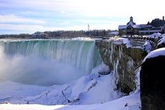 下跌尼亚加拉冬天 安大略 加拿大 库存照片