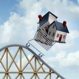 下跌的住房价格 免版税库存图片