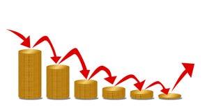 下跌的金钱步 向量例证