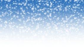 下跌的雪动画 向量例证