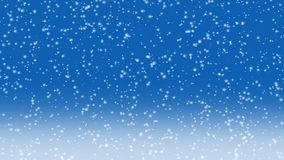 下跌的雪4K动画 库存例证