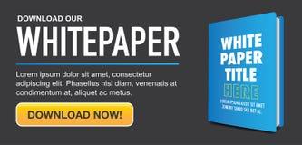 下载与可替换的标题、盖子和CTA的Whitepaper或Ebook图表 库存照片