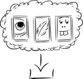 下载的被概述的文件从云彩 向量例证
