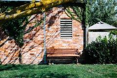 下长凳结构树 免版税图库摄影