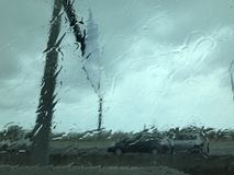 下雨天在帕尔马市 库存图片