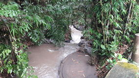 下雨河 库存照片