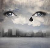 下雨泪花 免版税图库摄影