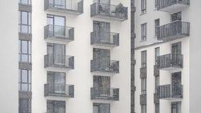 下雪在围场现代新的大厦 股票录像