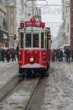 下雪在Istiklal II 库存图片