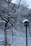 下雪过去 免版税库存照片