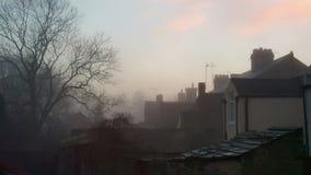 下雾的夜晚在Wolsingham 图库摄影