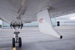 下飞机 免版税库存图片