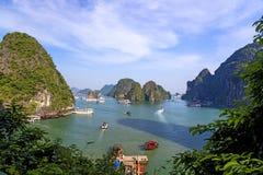 下龙湾在越南 库存照片