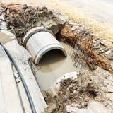 下水道设施在城市 库存图片