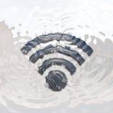 水下Wi-Fi的象 免版税图库摄影