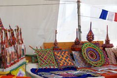 不丹人被显示的fest folklife工艺品 库存照片