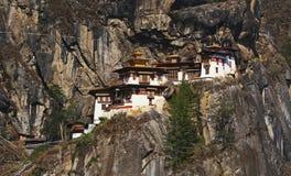 不丹修道院嵌套s taktshang老虎 免版税库存照片
