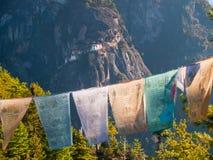 不丹修道院paro taktshang 图库摄影