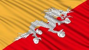 不丹旗子。 向量例证