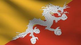 不丹旗子 库存例证