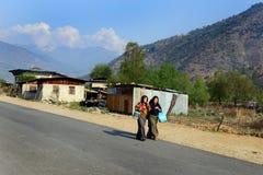 不丹的生活方式 免版税图库摄影