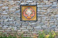 不丹设防房子视窗 库存照片