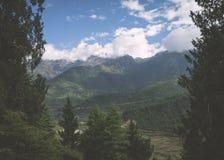 不丹谷俯视 库存照片