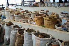 不丹香料和茶市场 免版税库存照片