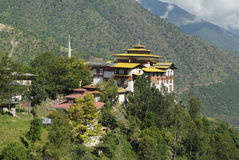 不丹,塔希冈 库存照片