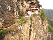 不丹-老虎修道院 图库摄影