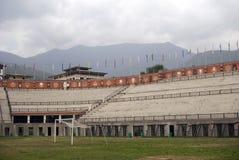 不丹changlimithang体育场廷布 库存照片