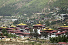 不丹chhoe dzong廷布trashi 图库摄影