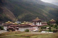 不丹chhoe dzong廷布trashi 库存照片