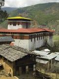 不丹dzong修道院paro 免版税库存照片