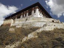 不丹dzong王国paro 免版税库存图片