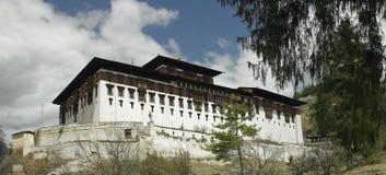 不丹dzong paro 免版税库存照片