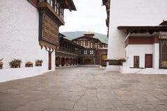 不丹dzong paro 图库摄影