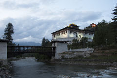 不丹dzong paro 免版税库存图片