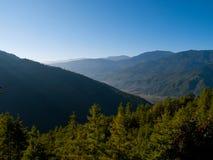不丹paro较大谷 免版税图库摄影